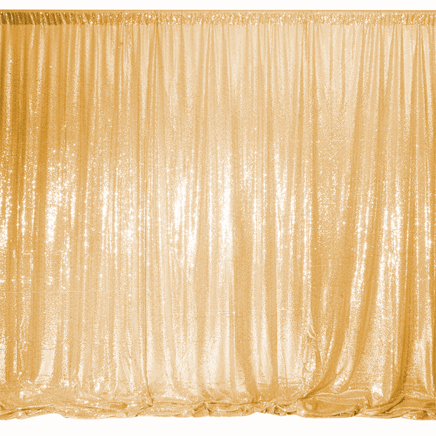 Antique Gold Sequin Backdrop Curtain 3m x 1.25m