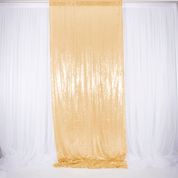 Antique Gold Sequin Backdrop Curtain 3m x 1.25m Single panel