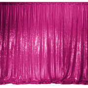 Hot Pink Sequin Backdrop Curtain 3m x 1.25m