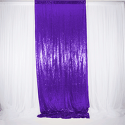 Purple Sequin Backdrop Curtain 3m x 1.25m Single Panel