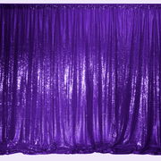 Purple Sequin Backdrop Curtain 3m x 1.25m