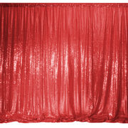 Red Sequin Backdrop Curtain 3m x 1.25m