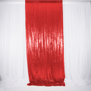 Red Sequin Backdrop Curtain 3m x 1.25m Single Panel