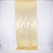 Champagne Gold Sequin Backdrop Curtain 3m x 1.25m Single Panel