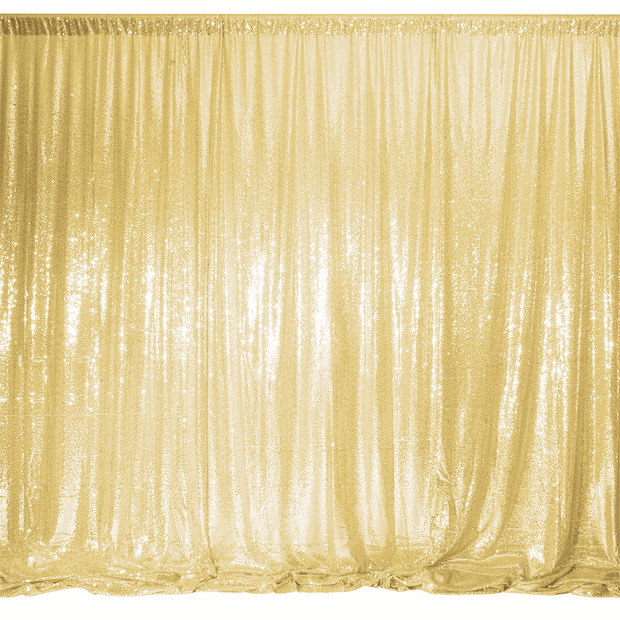 Champagne Gold Sequin Backdrop Curtain 3m x 1.25m