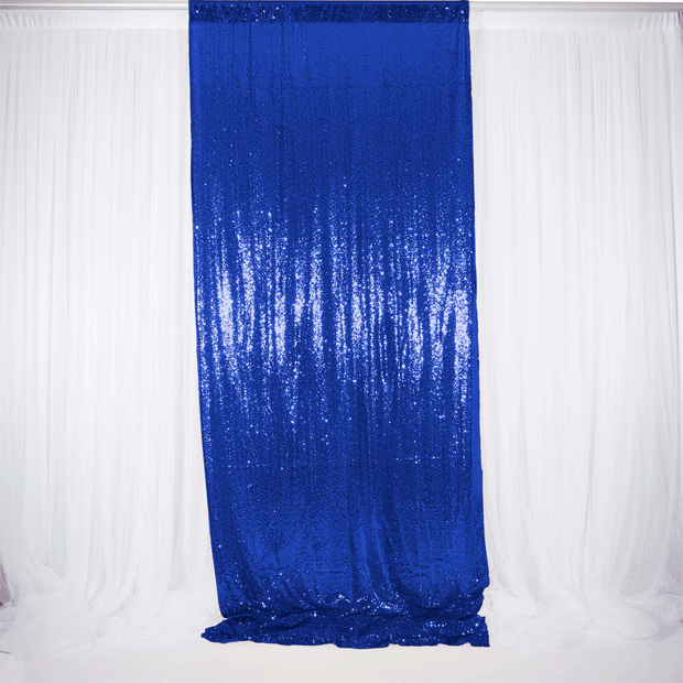Royal Blue Sequin Backdrop Curtain 3m x 1.25m Single Panel