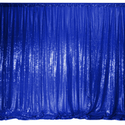 Royal Blue Sequin Backdrop Curtain 3m x 1.25m