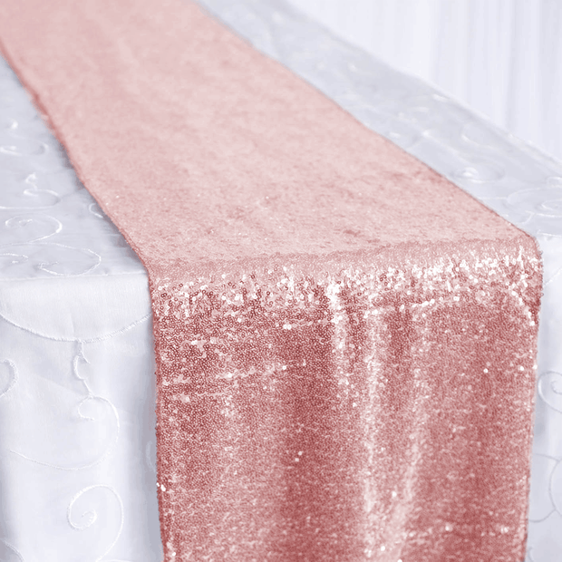 Sequin Table Runner - Rose Gold