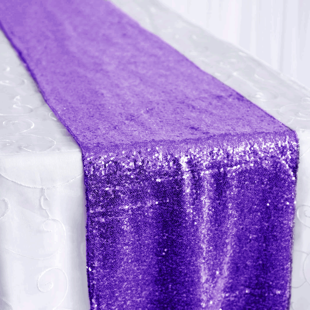 Sequin Table Runner - Purple