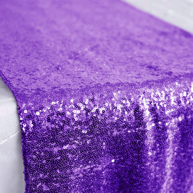 Sequin Table Runner - Purple Close Up