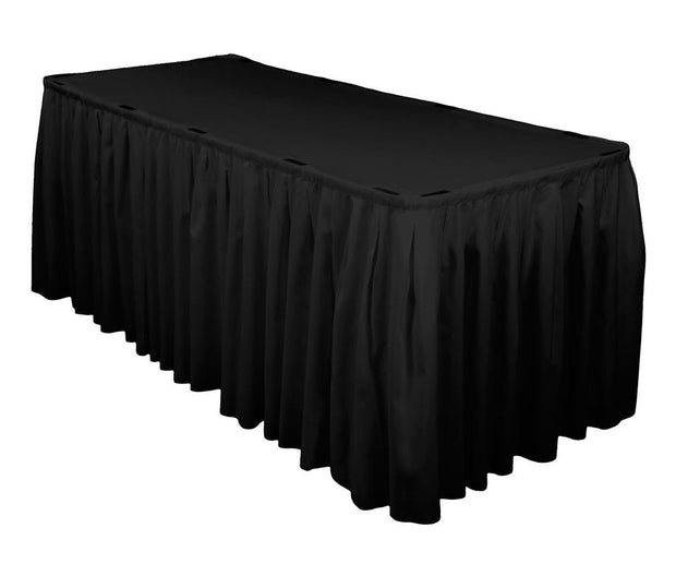Black Table Skirting (3m) + BONUS Clips