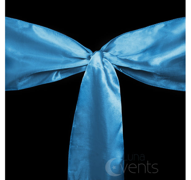 Satin Chair Sashes Detail - Electric Blue