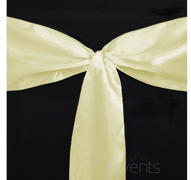 Satin Chair Sashes Detail - Ivory