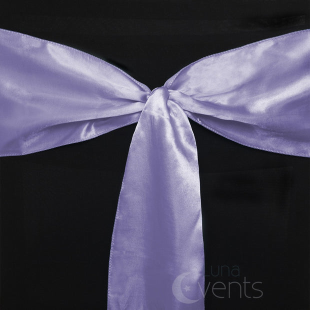 Satin Chair Sashes Detail - Lavender