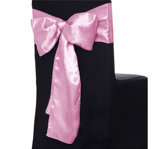 Satin Chair Sashes - Light Pink