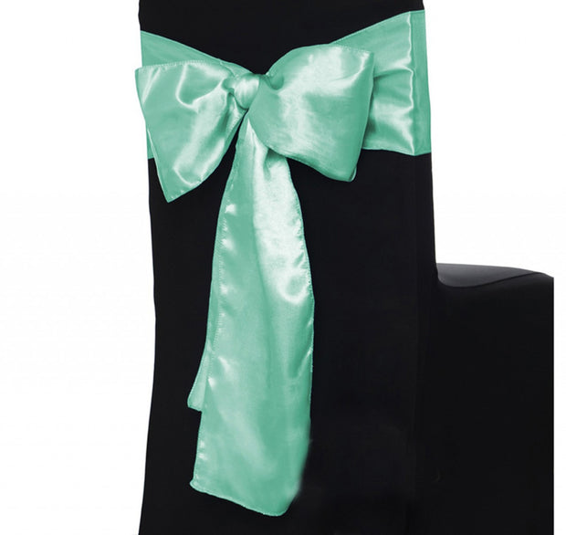 Satin Chair Sashes - Mint