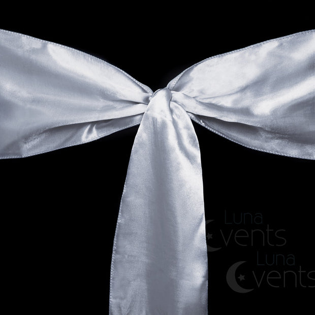 Satin Chair Sashes Detail - Silver