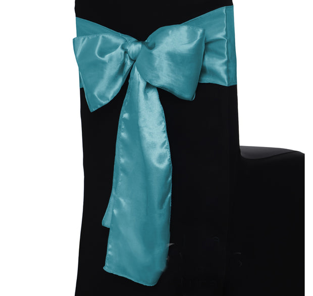 Satin Chair Sashes - Teal