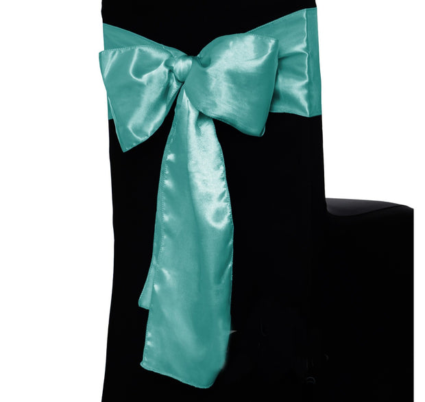 Satin Chair Sashes - Turquoise