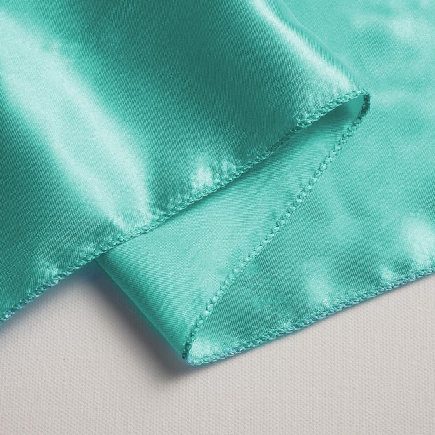 Satin Chair Sashes Close Up - Turquoise