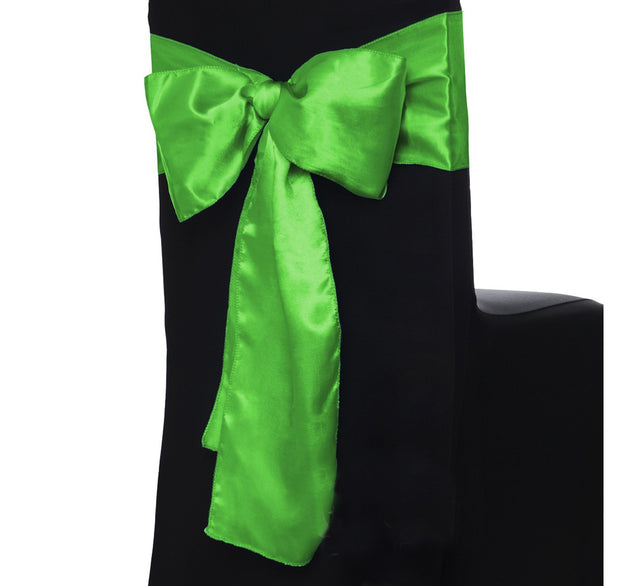 Satin Chair Sashes - Green