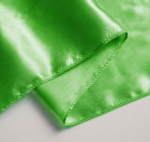 Satin Chair Sashes Close Up - Green