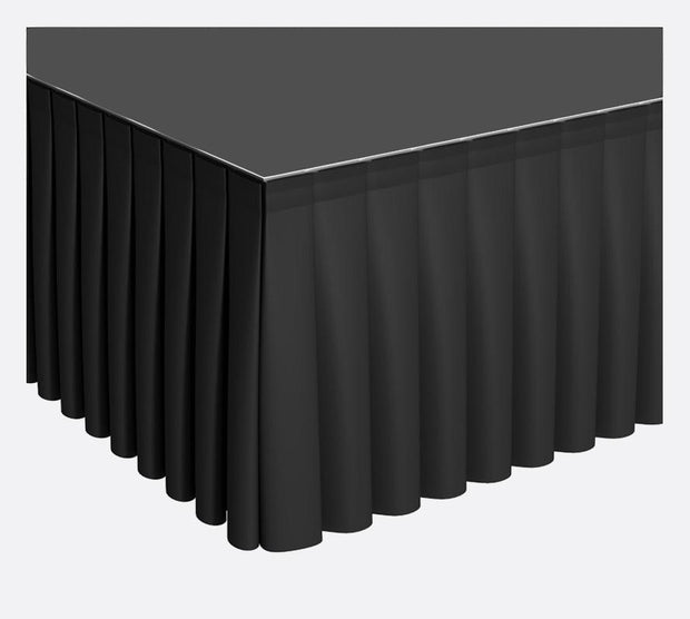 Black Stage Skirting (30cm x 3m) + BONUS Skirting Clips