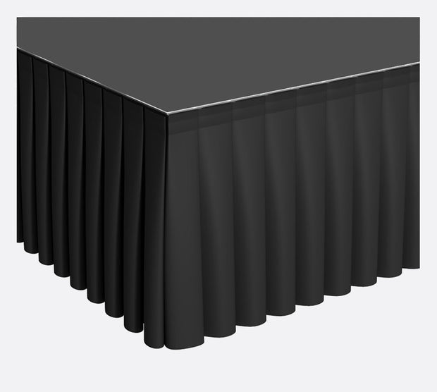 Black Stage Skirting (90cm x 3m) + BONUS Skirting Clips