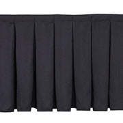 Black Stage Skirting (30cm x 3m) + BONUS Skirting Clips Closeup 1
