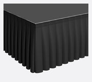 Black Stage Skirting (60cm x 3m) + BONUS Skirting Clips
