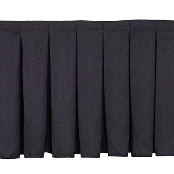 Black Stage Skirting (50cm x 3m) + BONUS Skirting Clips Close-Up
