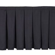 Black Stage Skirting (60cm x 3m) + BONUS Skirting Clips Close-Up