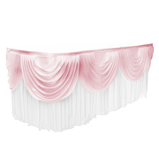 Ice Silk Satin 3m Swag  - Blush