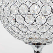 Crystal Ball candle holder close up acrylic crystals