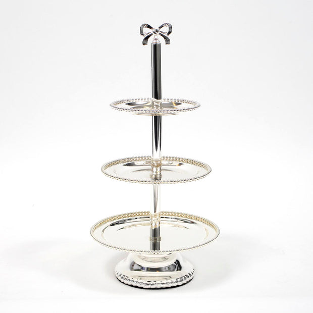 Silver Tiered Cake Stand - 60cm High