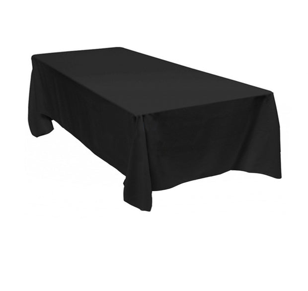 Black Rectangle Tablecloths (137x244cm)