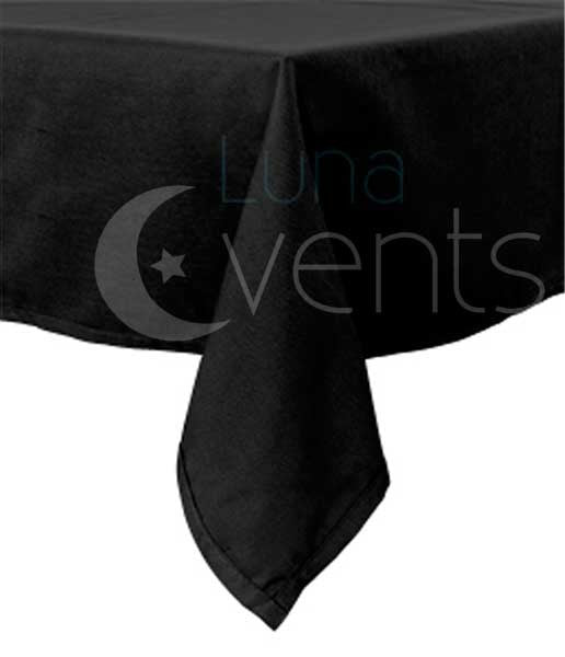 Black Rectangle Tablecloths (153x259cm) Corner