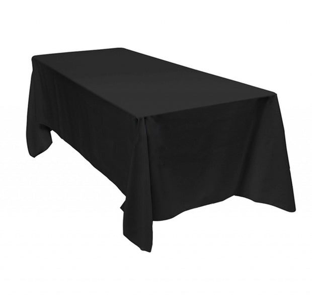 Black Rectangle Tablecloths (153x320cm)