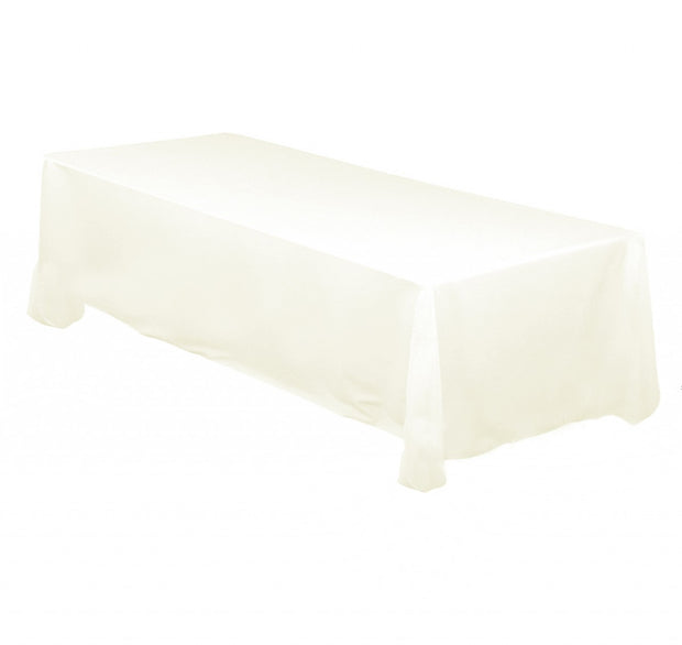 Ivory Rectangle Tablecloth (137x244cm)