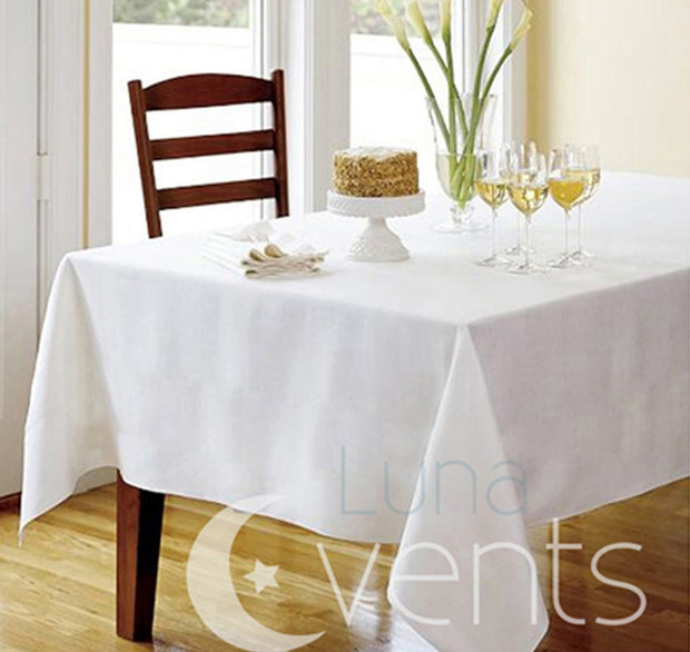 Ivory Rectangle Tablecloth (153x320cm) close up