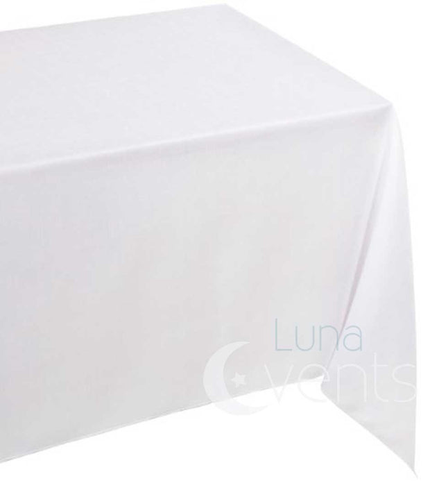 White Rectangle Tablecloth (137x244cm) close up