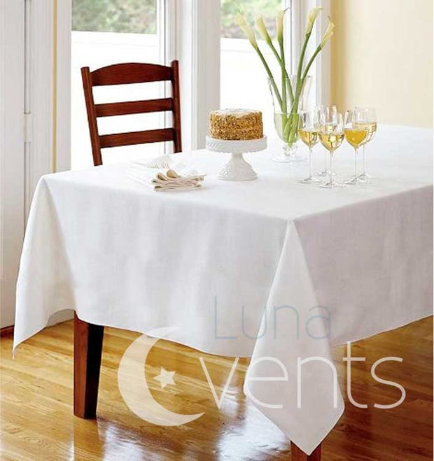 White Rectangle Tablecloth (137x244cm) detail