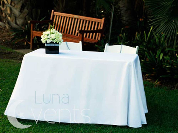 White Rectangle Tablecloth (137x244cm) dinner