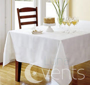 White Rectangle Tablecloth (153x320cm) close up