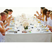 White Rectangle Tablecloth (153x320cm) function