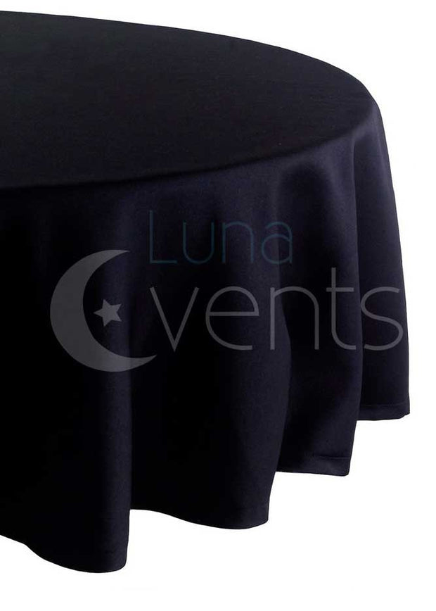 Black Round Tablecloth (260cm) Side