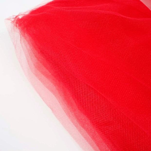 Red Large Tulle Fabric Roll Bolt Wedding Party Material
