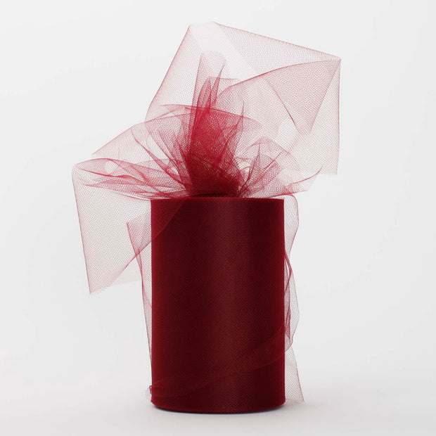 Burgundy Medium Tulle Fabric Roll Wedding Party Material