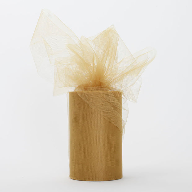 Gold Medium Tulle Fabric Roll Wedding Party Material