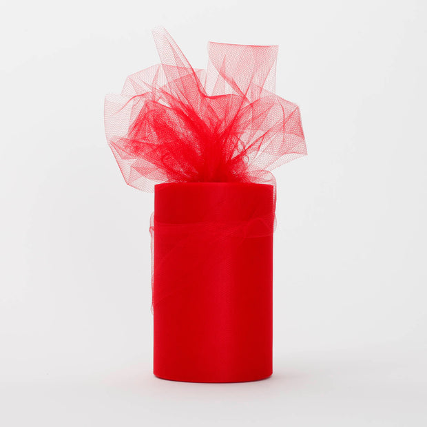 Red Medium Tulle Fabric Roll Wedding Party Material